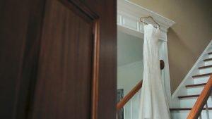 Wedding Dress Inside Home